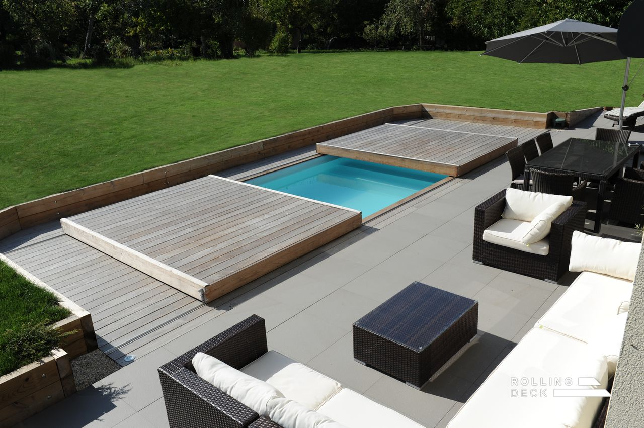 Rolling deck la couverture terrasse mobile de piscine et for Home piscine