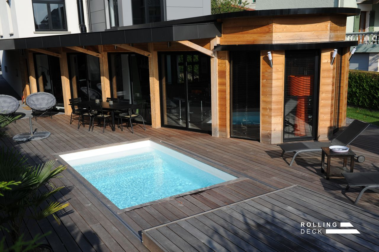 Rolling Deck La Couverture Terrasse Mobile De Piscine Et