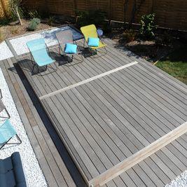 Terrasse piscine mobile